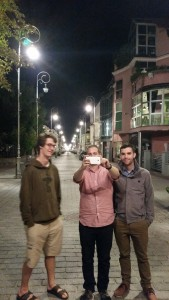 Liam, Austin, and Kyle enjoying Kielce's beautiful old town.