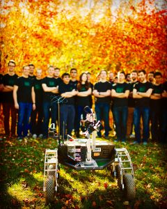 Enjoying the fall colours with the 2015 European Rover Challenge champion!